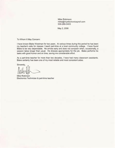 47 recommendation letter example templates free premium templates