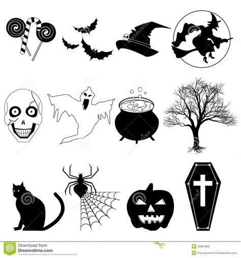 imagenes en blanco y negro de halloween halloween blanco y negro ilustraci 243 n del vector imagen