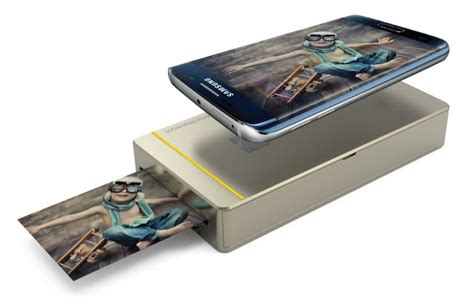 iphone printer mini photo printer mobile portable wifi nfc for android and iphone gold by kodak