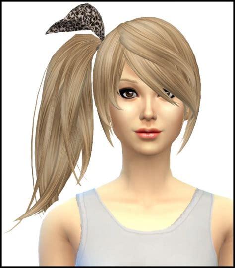ponytail hair sims 4 sims 4 hairs simista kijiko side ponytail hairstyle