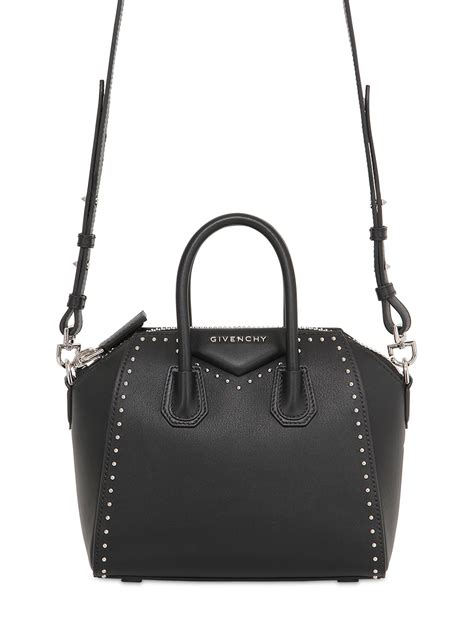 New Givenchy Antigona Studded lyst givenchy mini antigona studded leather bag in black