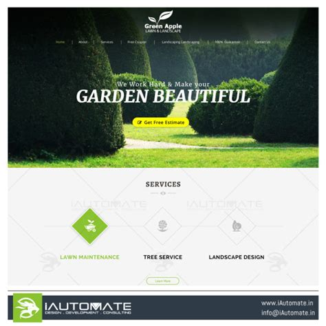 Green Apple Landscape Design Juvexil Webdesign Iautomate