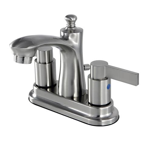 Bathroom Faucets Kingston Kingston Brass 4 In Centerset 2 Handle Bathroom Faucet In
