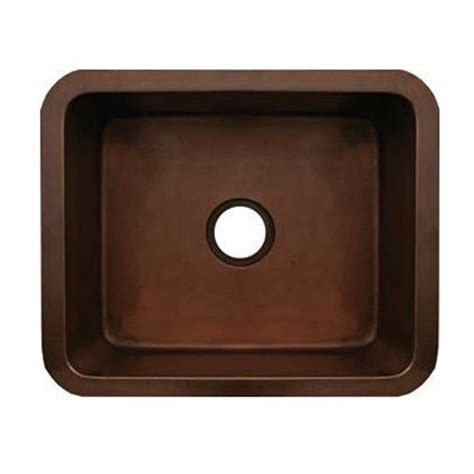 Bronze Kitchen Sinks Whitehaus Collection Copperhaus Undermount Copper 21 In Single Basin Kitchen Sink In Smooth