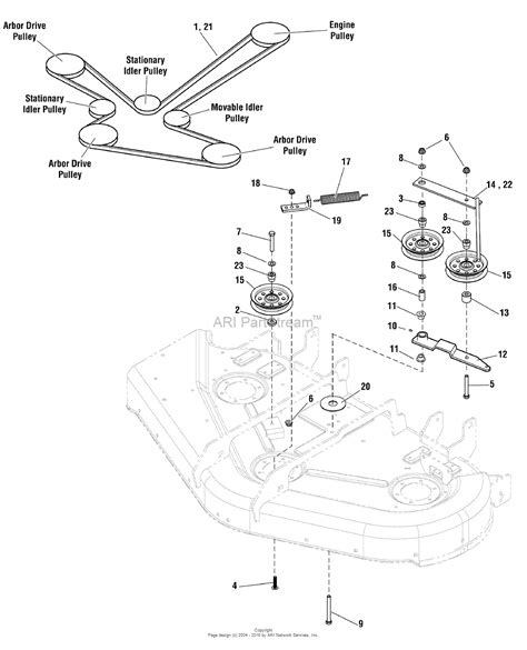 simplicity parts diagram simplicity 5900660 zt3000 series w 44 quot mower