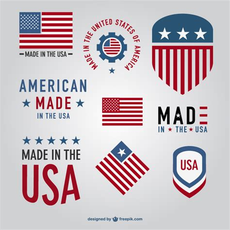 free logo design usa made in usa labels collection vector free download
