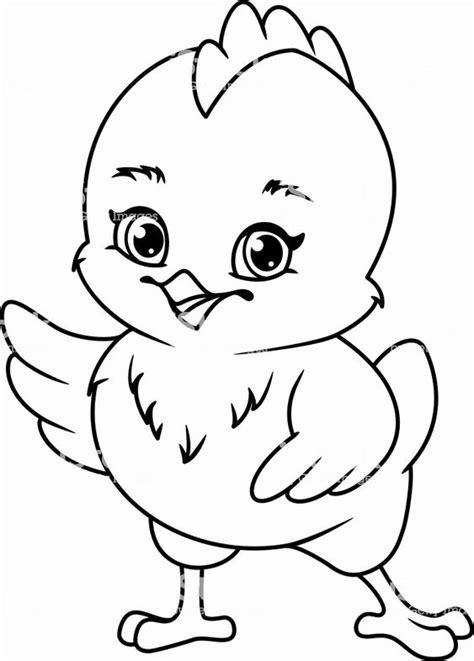 Gambar Mewarnai Ayam Untuk Anak TK,SD dan PAUD