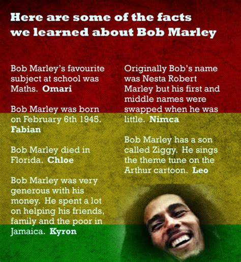 bob marley facts biography computing about black history month bluebirds blog