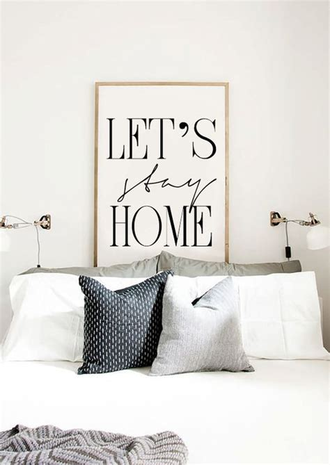 schlafzimmer poster let s stay home printable bedroom poster scandinavian