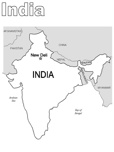 coloring pages for india printable india map countries coloring pages