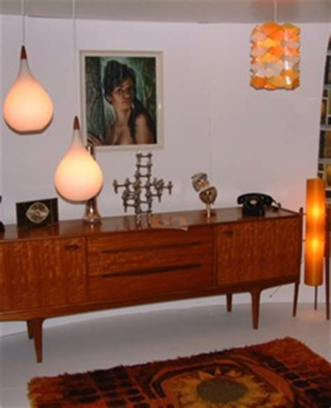 60s style furniture retro interiors