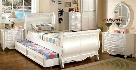 pearl bedroom set alexandra pearl white youth sleigh bedroom set from