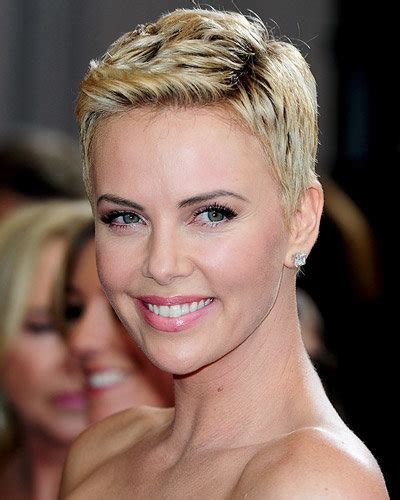 short old fashioned haircuts charlize theron sporting an pixies and short crops instyle com
