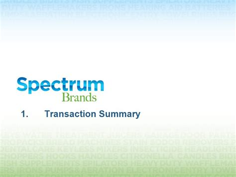 1 transaction summary