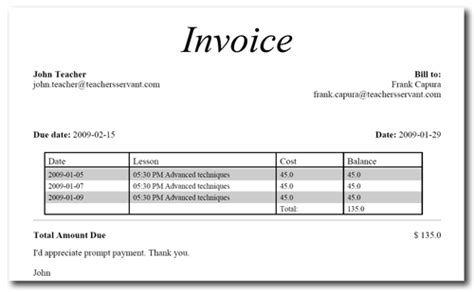tutoring invoice template tutor s office features student invoicing