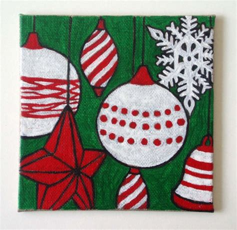 christmas canvas painting ideas christmas decore pin by robbie abrams on canvas painting pinterest