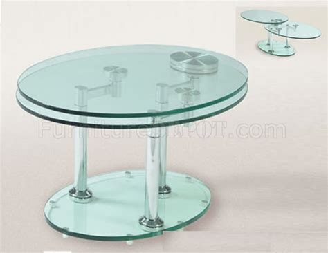 modern coffee table with glass top and extension