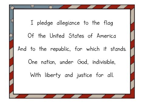 printable lyrics to the pledge of allegiance the pledge of allegiance kindergarten nana