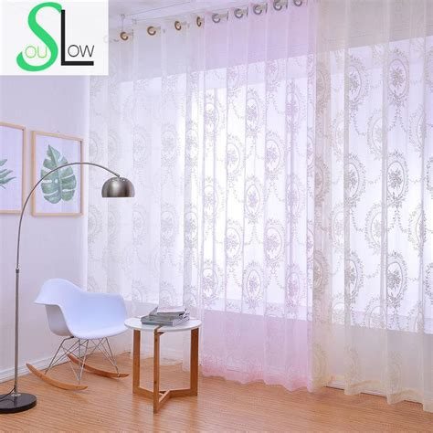 Pink And Beige Curtains Decor Soul White Pink Beige Garden Floral Lace Jacquard Curtain Living Europe Curtains Tulle For