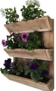 acres 3 tier wall planter rustic outdoor pots