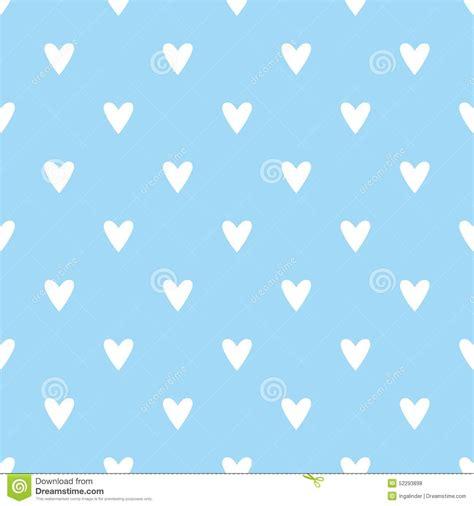 blue cute wallpaper vector tile vector pattern with white hearts on blue background