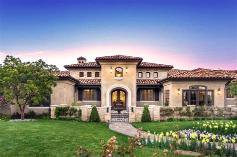tuscan style one story home house ideas