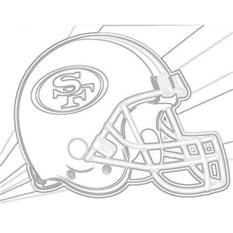 49ers Sketches by San Francisco 49ers Helmet Sketch For Canvas Painting