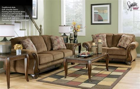 the furniture traditional chenille living room set from mocha chenille traditional sofa loveseat set by ashley