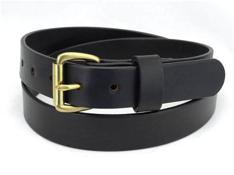 50b 1 1 4 quot wide leather belt casual wear amish handmade