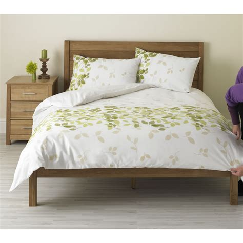 white comforter with green leaves wilko duvet set king leaf design green at wilko com
