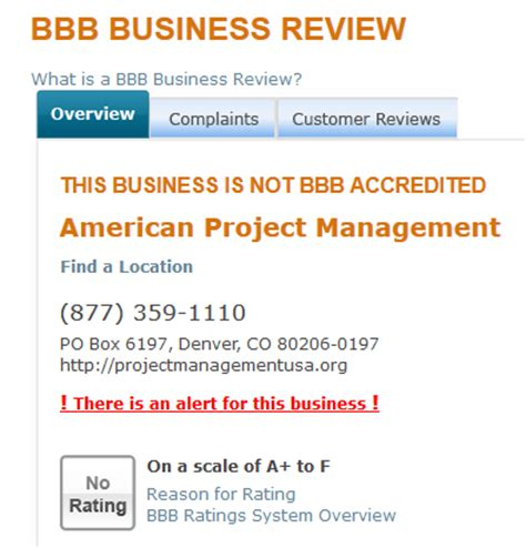 Bbb Number Search Dynamoo S Institute Of Project Management America