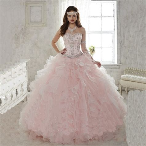 Light Pink 15 Dresses 2015 light pink quinceanera dresses gowns sweetheart