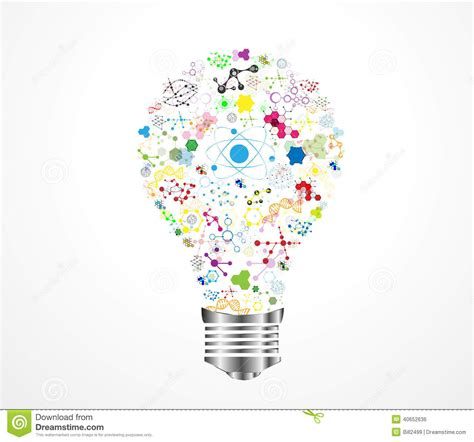 images ideas creative light bulb idea dna stock illustration