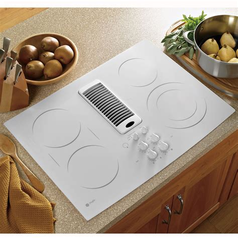 ge profile series pptnww  electric downdraft cooktop