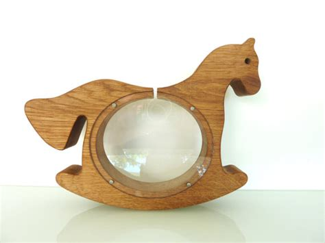 Handmade Money Box - wooden handmade money box lipizzaner money box