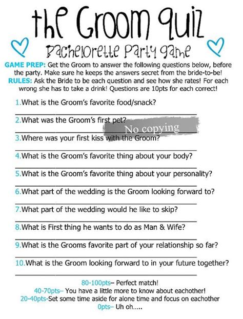 groom quiz bachelorette the hen ideas and brides