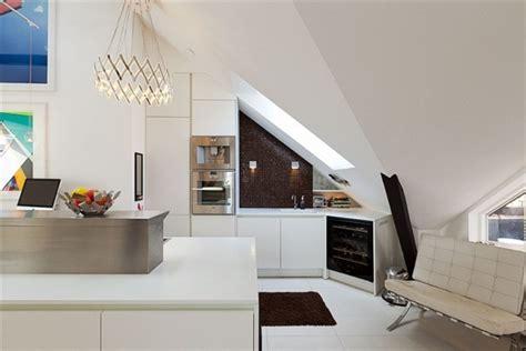 swedish small apartment kitchen design home round stylish stockholm loft with classic scandinavian interior