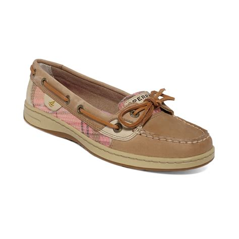 sperry top sider womens angelfish boat shoes in brown lyst