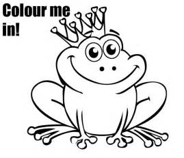 cartoon printable princess frog coloring pages coloring tone