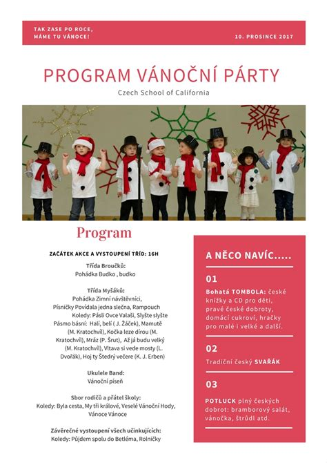 christmas party program christmas party program template