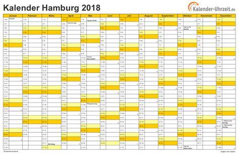 Kalender 2018 Hamburg Schulferien Feiertage 2018 Hamburg Kalender