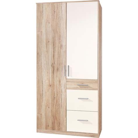 armoire 90 cm de large armoire dressing bicolore largeur 90 cm miroir 2 portes