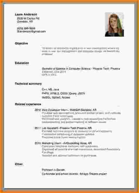 How To Write A Resume With No Work Experience Sle 8 how to write a cv with no experience basic appication letter