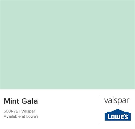 mint gala from valspar diy