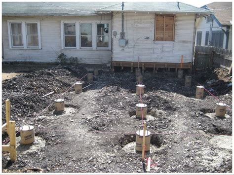 post with cement footing carpentry concrete pier footing construction