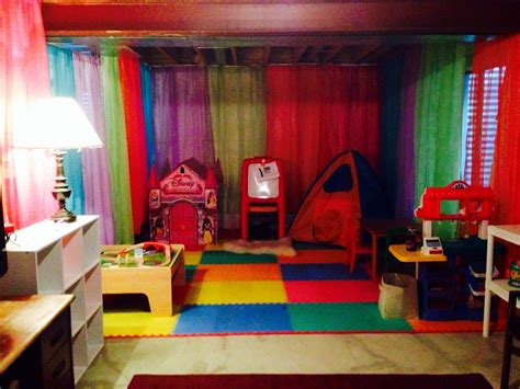 unfinished basement playroom unfinished basement ideas