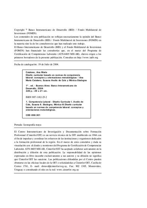 Diseño Curricular Por Competencias Laborales Dise 241 O Curricular Por Competencias Laborales Oit