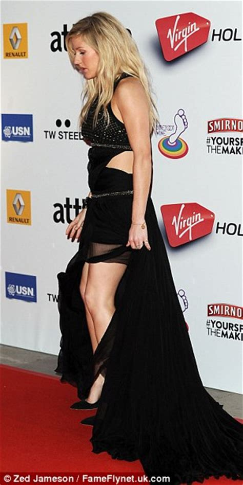 is ellie really ready to go from gothic what not to wear ellie goulding struggles to contain her curves in a racy