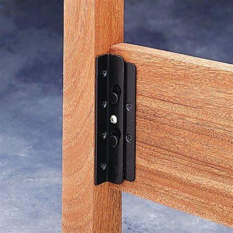 surface mounted keyhole bed rail brackets 90 degree