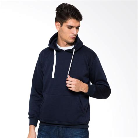 Jaket Hoodie Zipper Biru Donker jual hoodieku jaket hoodie jumper navy harga